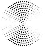 Abstract dotted circle curved. Illustration design in halftone style. royalty free illustration