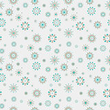 Abstract Dotted Circles Seamless Pattern Stock Images