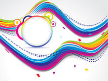 Abstract dotted colorfull wave background Stock Photography