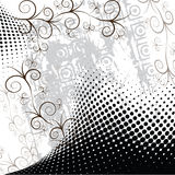 Abstract dotted flower. Design with place for your text royalty free illustration