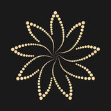 Abstract dotted flower shape. Design element. Royalty Free Stock Images