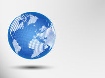Abstract dotted globe. Vector illustration of a world map. Abstract business background Royalty Free Stock Images