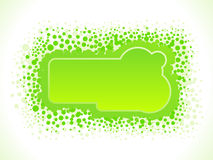 Abstract dotted green design Stock Images