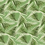 Abstract dotted green fern leaves seamless pattern. Abstract dotted green tropical fern leaves seamless pattern. Nice trendy vector exotic leaves texture for Stock Photos