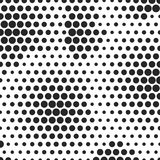 Abstract dotted halftone background. Decorative template for cover, poster or banner. Monocrome pattern on white Royalty Free Stock Image