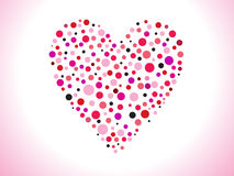 Abstract dotted heart. Vector illustration Royalty Free Stock Photos