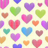 Abstract dotted hearts Royalty Free Stock Images