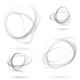 Abstract dotted orbit swirl abstract patterns Royalty Free Stock Photo
