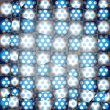 Abstract Dotted Patchwork Texture. Blue Stock Image