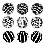 Abstract dotted sphere Stock Photography