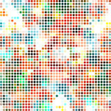 Abstract dotted textile seamless pattern of multicolored spots Stock Photo