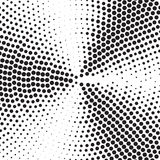 Abstract dotted vector background. Concetric circles in squere shape. Halftone effect Royalty Free Stock Image