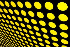 Abstract dotted yellow background. Perspective abstract dotted yellow background Royalty Free Stock Photos