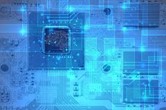 Circuit or computer or electronics board. Abstract double exposure background of circuit or computer or electronics board royalty free stock photo
