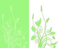 Abstract double foliage vector Royalty Free Stock Photography