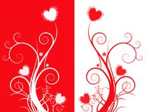 Abstract double heart vector Stock Photos