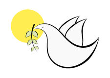 Abstract dove symbol Royalty Free Stock Photography