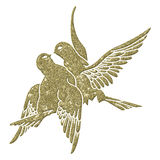 Abstract Doves. Design element for design creation - gold - Doves Royalty Free Stock Photos
