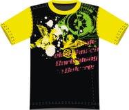 Abstract Dragon Silk t-shirt design Stock Image