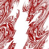 Abstract Dragon Tattoo Illustration Vector Royalty Free Stock Photography