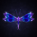 Abstract dragonfly royalty free illustration