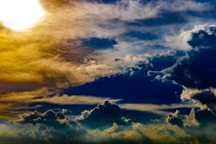 Abstract dramatic clouds like heaven at sunset time. Abstract dramatic clouds like heaven at sunset time for background usage royalty free stock images