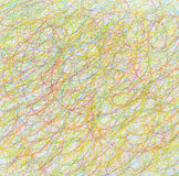 Abstract draw scribble color pencil background. Stock Image