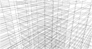 Abstract drawing sketch,Illustration. Abstract drawing architectural sketch,Illustration Stock Photography