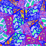 Abstract drawing background of geometric patterns Stock Photos