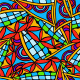 Abstract drawing background of geometric patterns Royalty Free Stock Photo