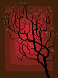 The abstract drawing of a blossoming tree. Royalty Free Stock Photo