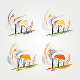 Abstract drawing of the city Royalty Free Stock Photo
