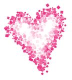 Abstract drawing of heart. Heart print for T-shirt. royalty free stock photo
