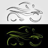 Abstract drawing of a motorbike Royalty Free Stock Photography