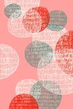 Abstract drawing of overlaid circles on pink background. Digital abstract drawing of fun, colourful overlaid circles on pink background royalty free illustration