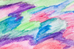 Abstract drawing painted with watercolor crayons. Watercolor crayons abstract background. Hand drawn on grainy paper Royalty Free Stock Photography