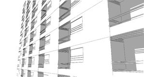 Abstract drawing sketch,Illustration. Abstract drawing architectural sketch,Illustration Royalty Free Stock Photo