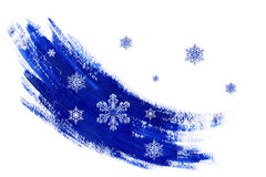 Abstract drawing with snowflakes Stock Photography