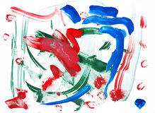 Abstract drawing water colour paints Stock Photos