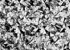 Abstract drawn background. Artistic wallpaper in black colors. Origami poligonal design with effect of  broken stained glass and d Stock Photos