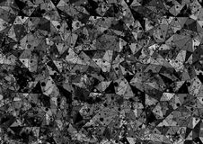 Abstract drawn background. Artistic wallpaper in black and grey colors. Royalty Free Stock Photography