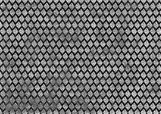 Abstract drawn black and white background with rhombus Stock Photos