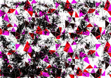 Abstract drawn black, white and pink background. Horizontal artistic creative banner. Series of Drawn Artistic Creative Backgrounds Stock Photos