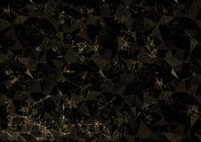 Abstract drawn brown background. Origami poligonal design with effect of broken stained glass. Series of Grunge and Artistic Creative Backgrounds royalty free illustration