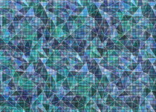 Abstract drawn colorful background. Artistic wallpaper in blue colors. Royalty Free Stock Photography