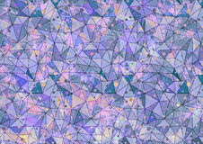 Abstract drawn colorful background. Artistic wallpaper in blue, pink colors with dots. Stock Photo
