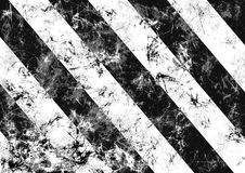 Abstract drawn grunge background in black, white colors with diagonal stripes. Banner with effect of crumpled paper with scratches, abrasion, crack. Series of Royalty Free Illustration