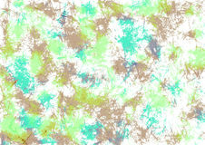 Abstract drawn watercolor crumpled bright background with brushstrokes in green and brown colors. Gorizontal artistic creative banner. Series of Watercolor Royalty Free Stock Images