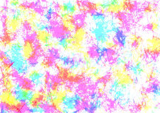 Abstract drawn watercolor crumpled bright colorful background with colorful brushstrokes Royalty Free Stock Photo