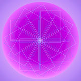 Abstract dream catcher design over graduated light purple royalty free stock photo